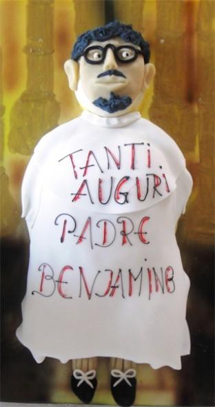 Pater Beniamin als Torte. Geschenk von Margit Goldberger